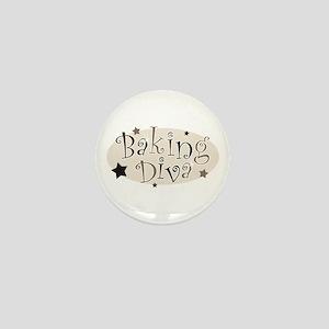 Baking Diva [brown] Mini Button